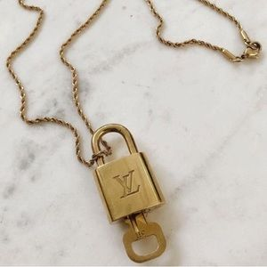 Louis Vuitton Vintage Lock with Chain